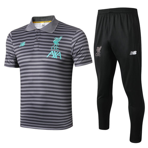 Camiseta polo Liverpool 2019-2020 Grigio scuro