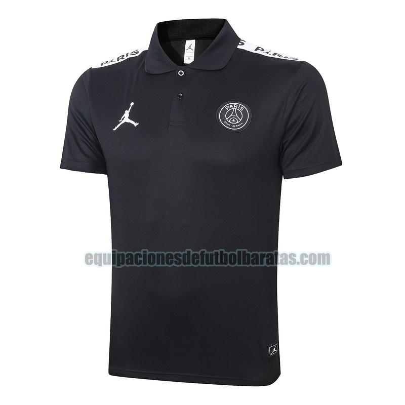 camiseta polo paris saint germain 2020-2021 blanco (negro)
