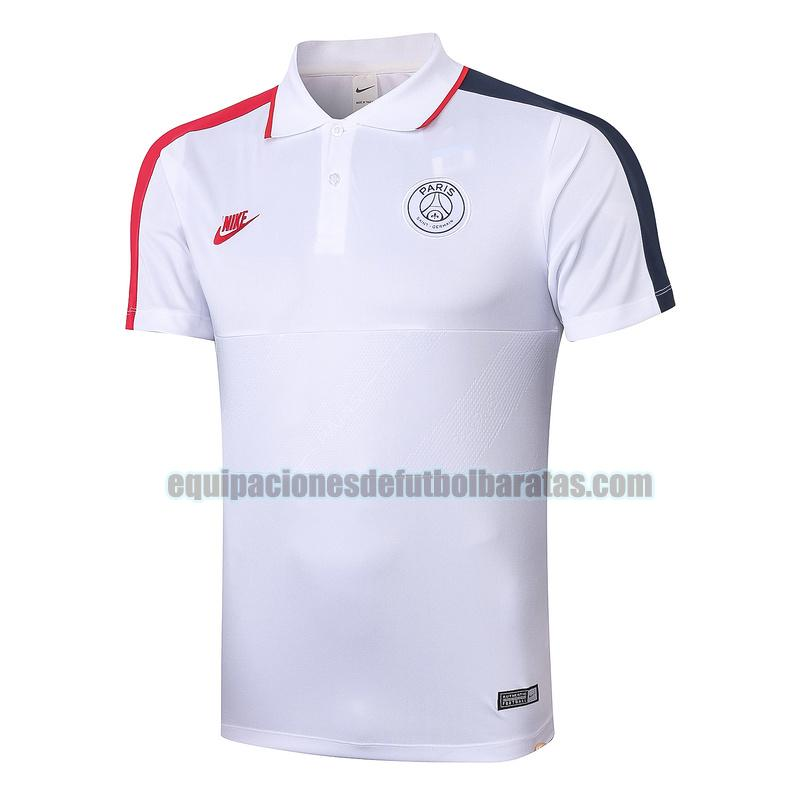 camiseta polo paris saint germain 2020-2021 blanco rojo negro