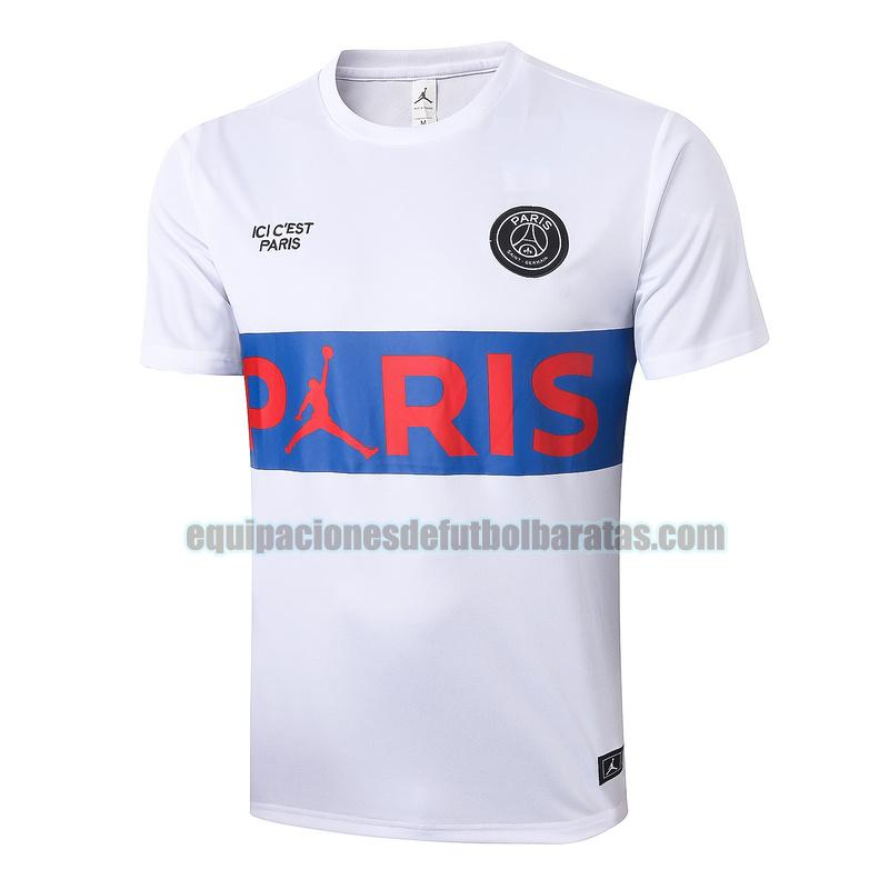 entrenamiento paris saint germain 2020-2021 blanco azul