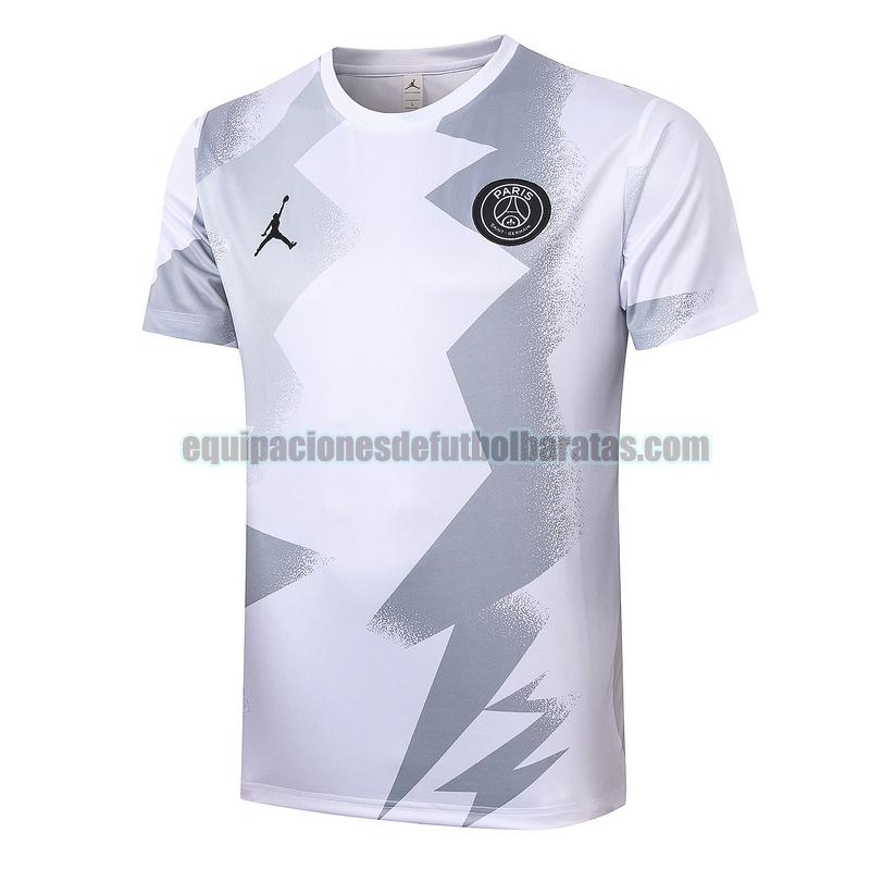 entrenamiento paris saint germain 2020-2021 gris blanco