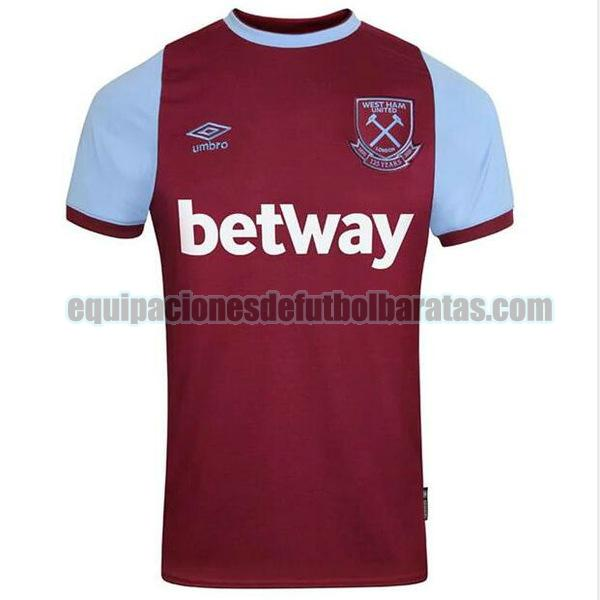primera camiseta west ham united 2020-2021 tailandia