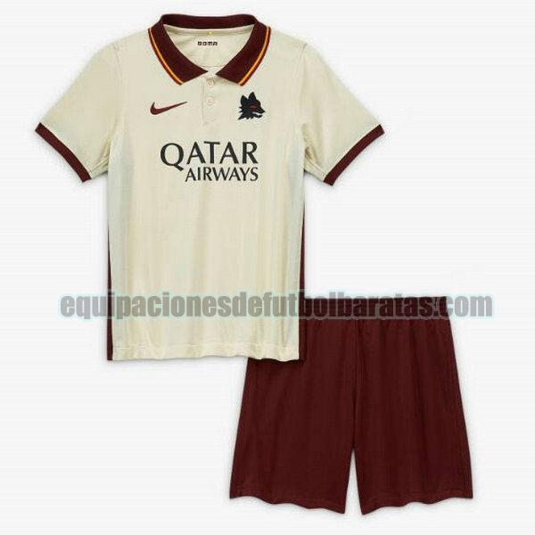 segunda camiseta as roma 2020-2021 niño